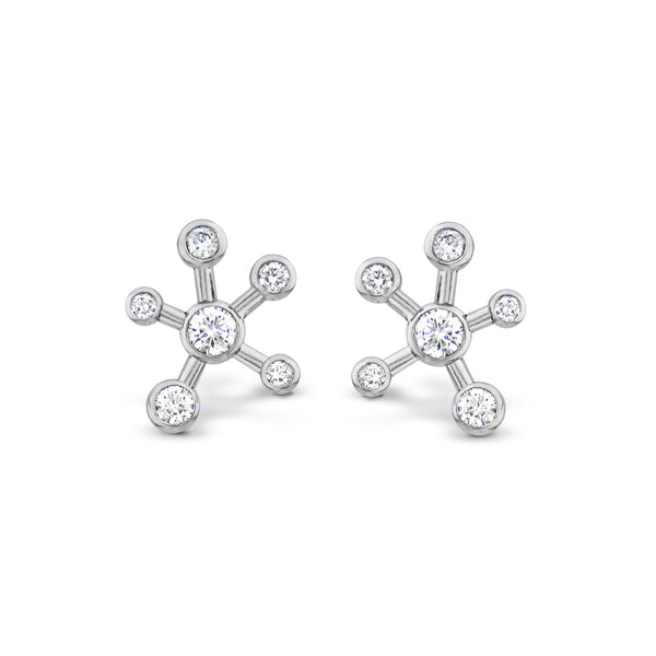 Dendritic Diamond Earrings