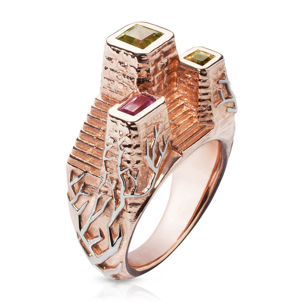 Typhoon Palace Rose Gold Temple Ring
