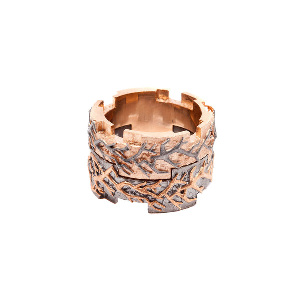 Typhoon Palace Rose Gold Interlocking Ring