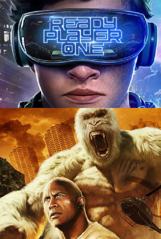 Rampage / Ready Player One HDX or itunes HD via MA Bundle