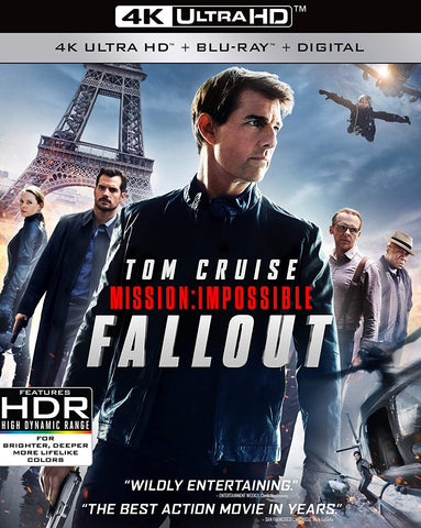 Mission Impossible Fallout 4K UHD VUDU (Does not port to MA)