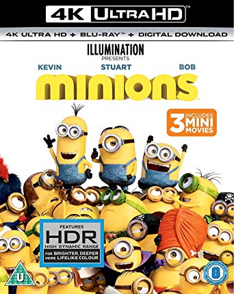 Minions Itunes 4K UHD (Ports to Movies Anywhere/VUDU in 4K)