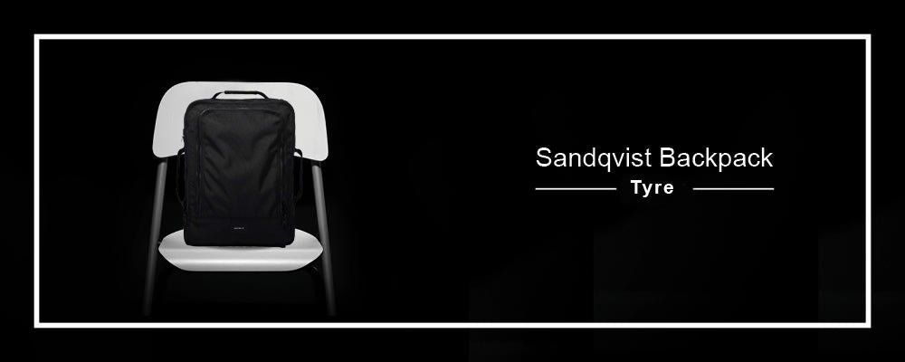 Sandqvist Tyre Black Backpack
