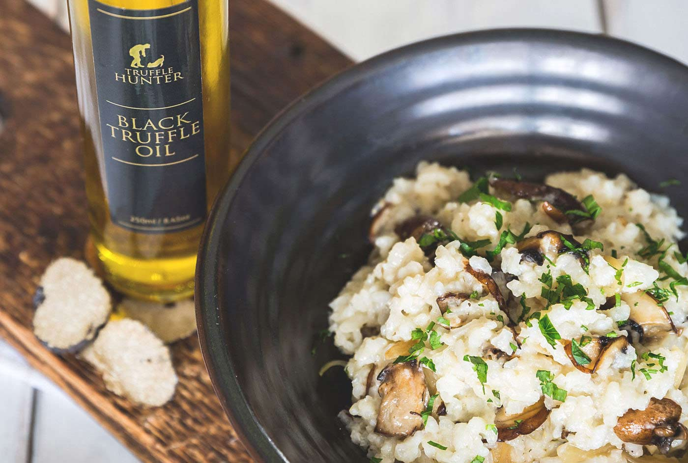 Black Truffle Risotto With Black Truffle Oil Recipe