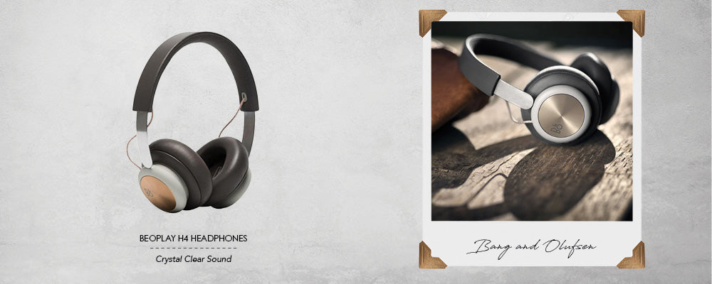 Beoplay H4 Leather Over Ear Headphones Charcoal Grey