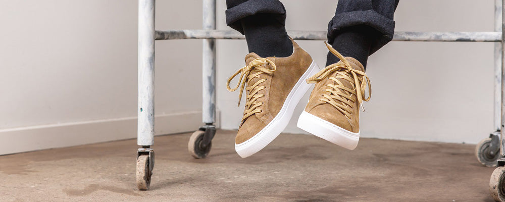 Garment Project Type Taupe Suede Sneakers