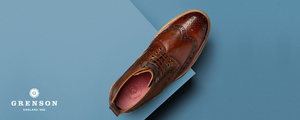 Grenson Triple Welt Fred Tan Leather Brogue Boot