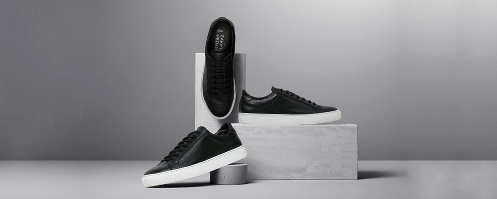 Garment Project Type Black Leather Sneakers