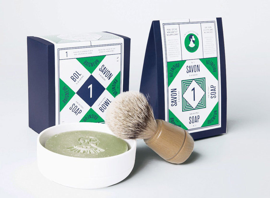 Le Baigneur Porcelain Bowl, Shaving Soap N°1 and Shaving Brush Pack | The Project Garments