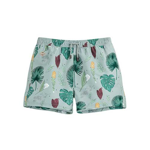 Nikben Flower Power Swim Shorts Light Blue