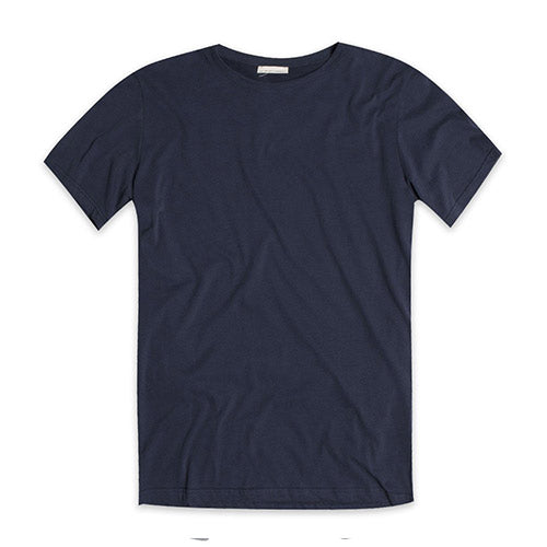 Crew Neck Supima Cotton T-shirt Navy Blue