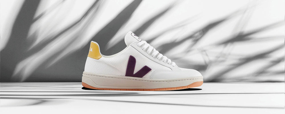 Veja V-12 B-Mesh White Berry Gold Yellow