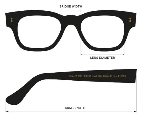 Cutler And Gross Frames Fit And Size Guide | The Project Garments