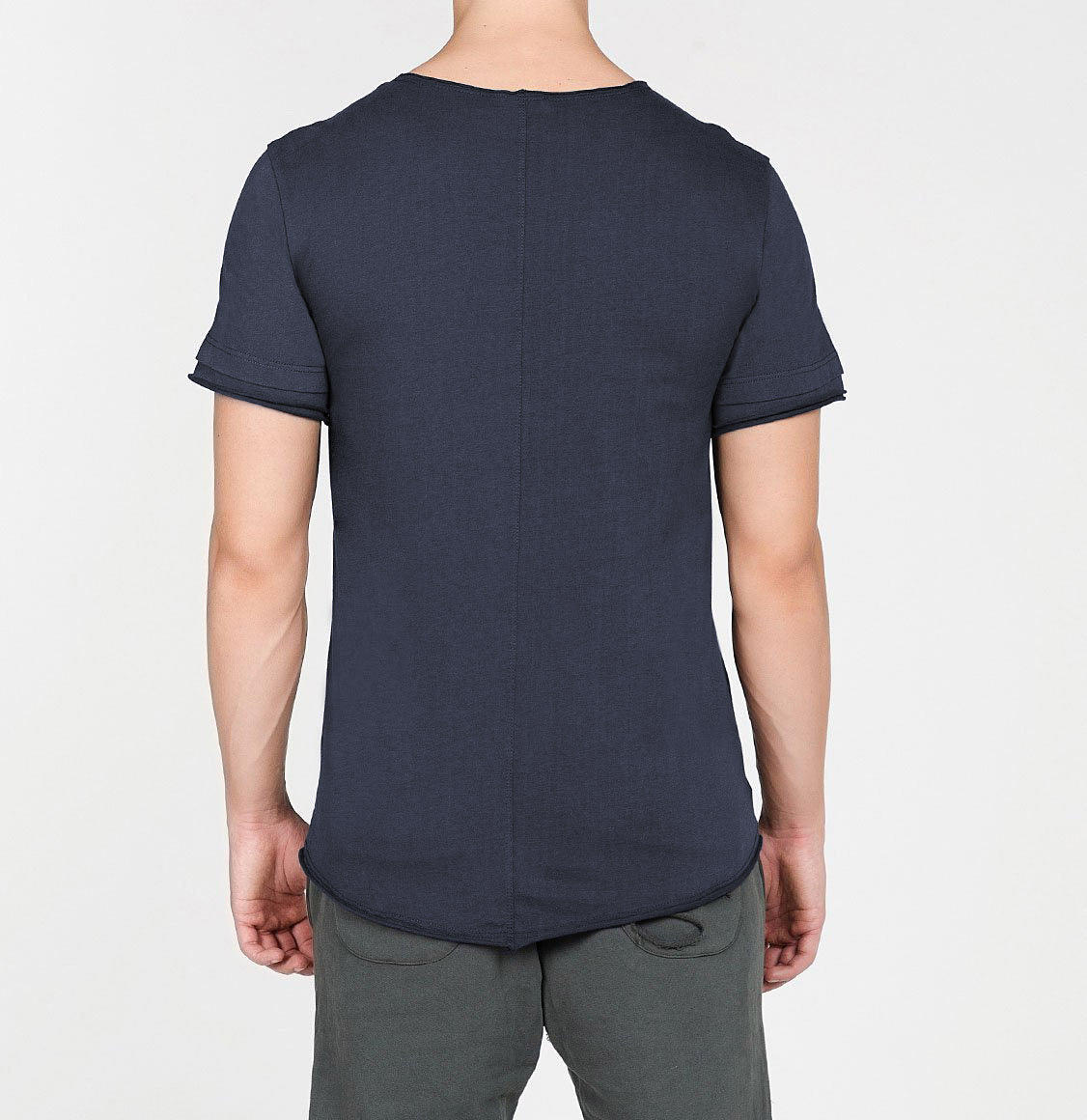 Organic Cotton Crew Neck Garment Dyed T-shirt Slate Blue | The Project Garments - C