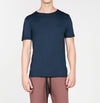 Band Crew Neck T-Shirt Navy Blue | The Project Garments - A
