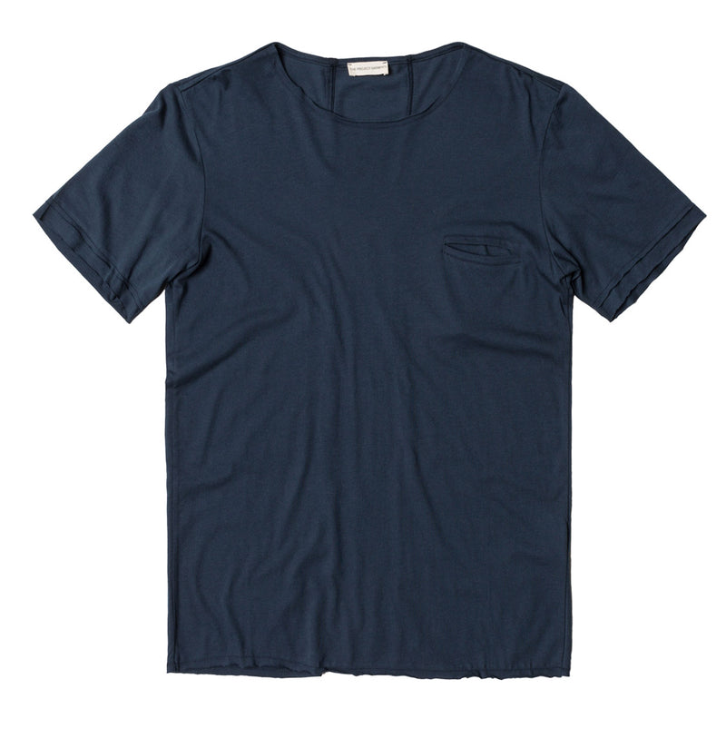Band Crew Neck T-Shirt Navy Blue | The Project Garments - Product