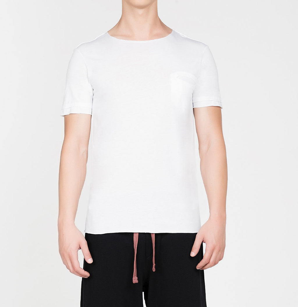 Band Crew Neck T-Shirt White | The Project Garments - A