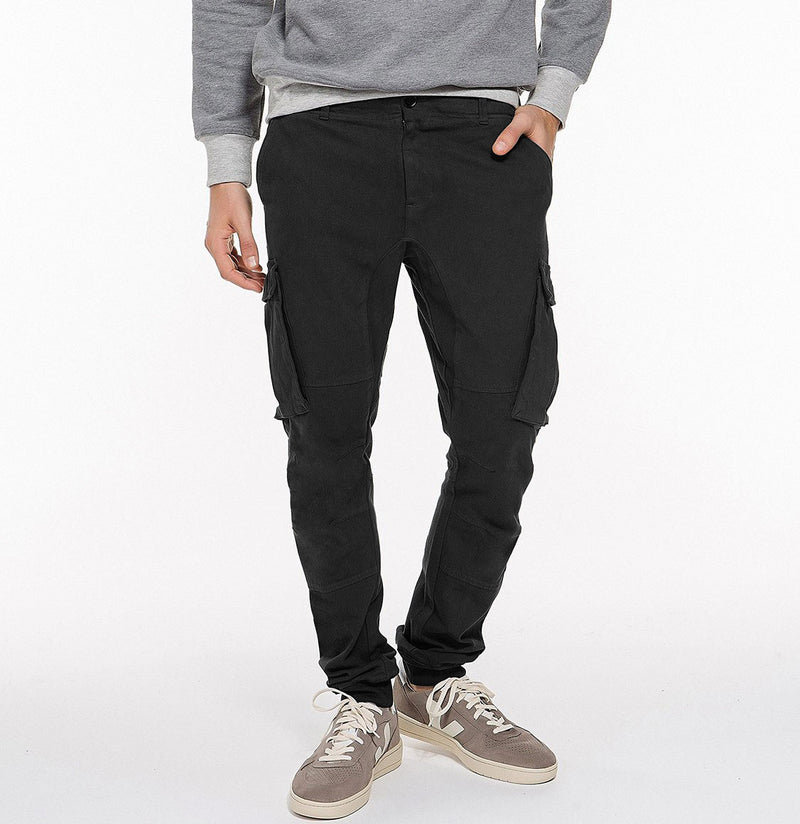 Cargo Cotton Light Weight Pants Black Back