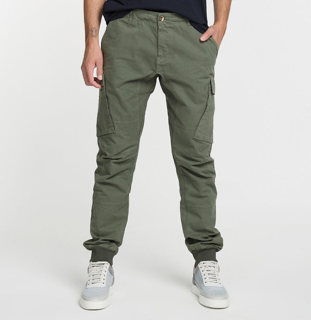 Cargo Cotton Pants Light Khaki - B