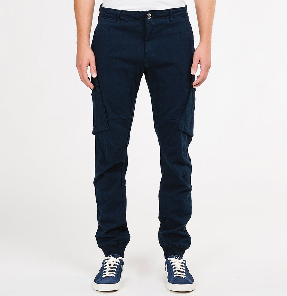Cargo Cotton Light Weight Pants Navy Blue | The Project Garments - A