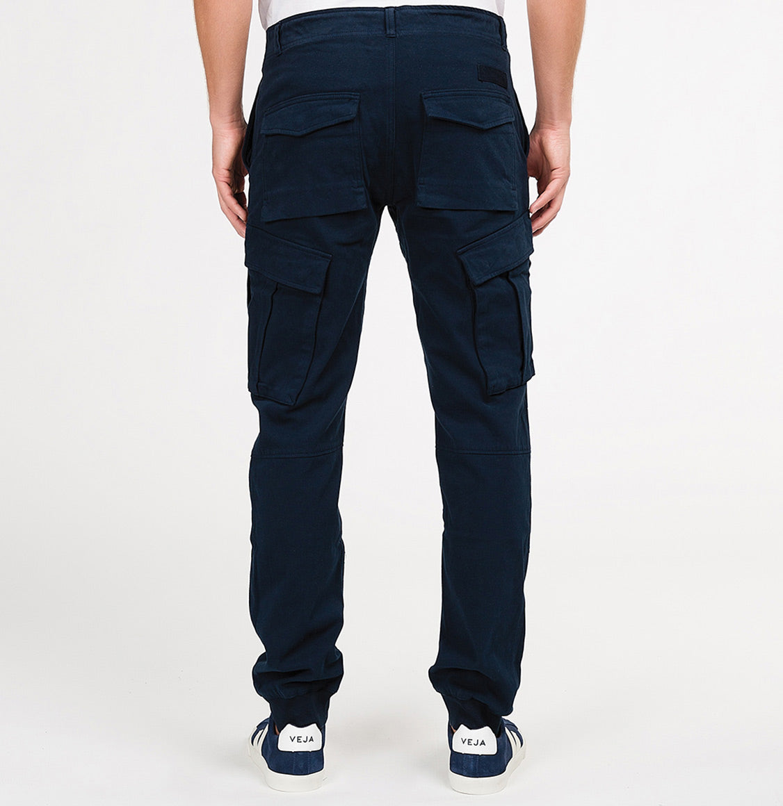 Cargo Cotton Light Weight Pants Navy Blue | The Project Garments - B