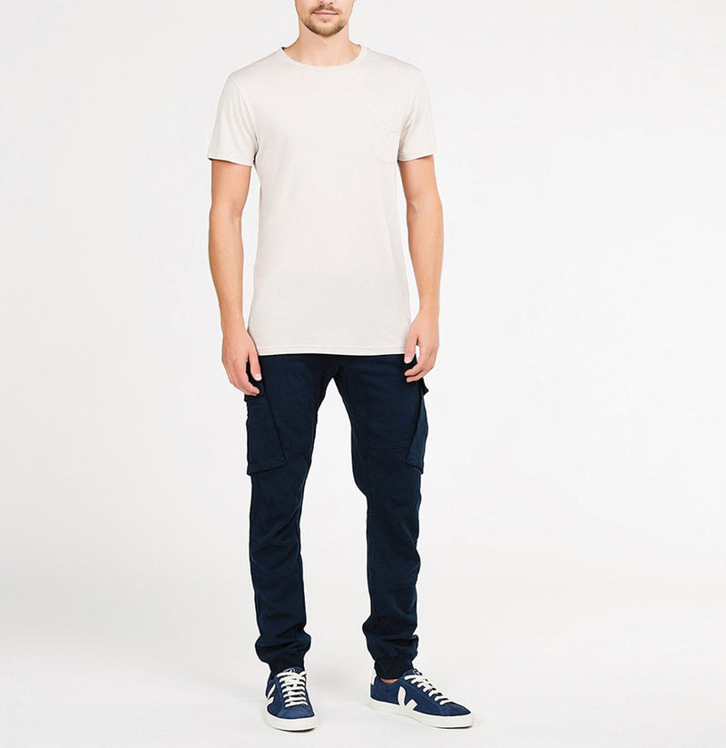 Cargo Cotton Light Weight Pants Navy Blue | The Project Garments - Model - B