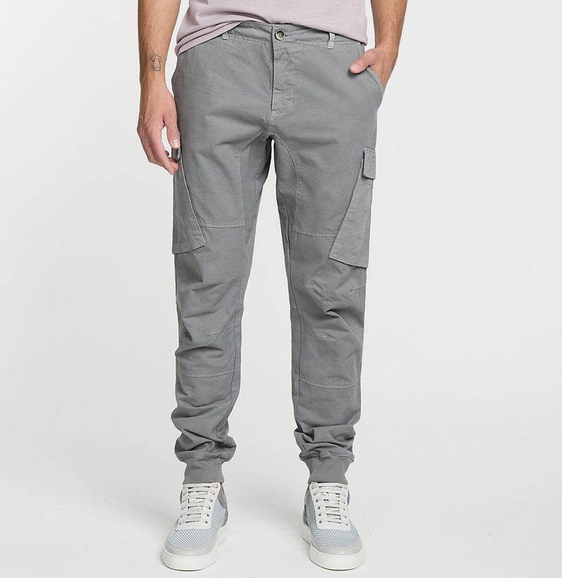 Cargo Cotton Pants Grey Model A