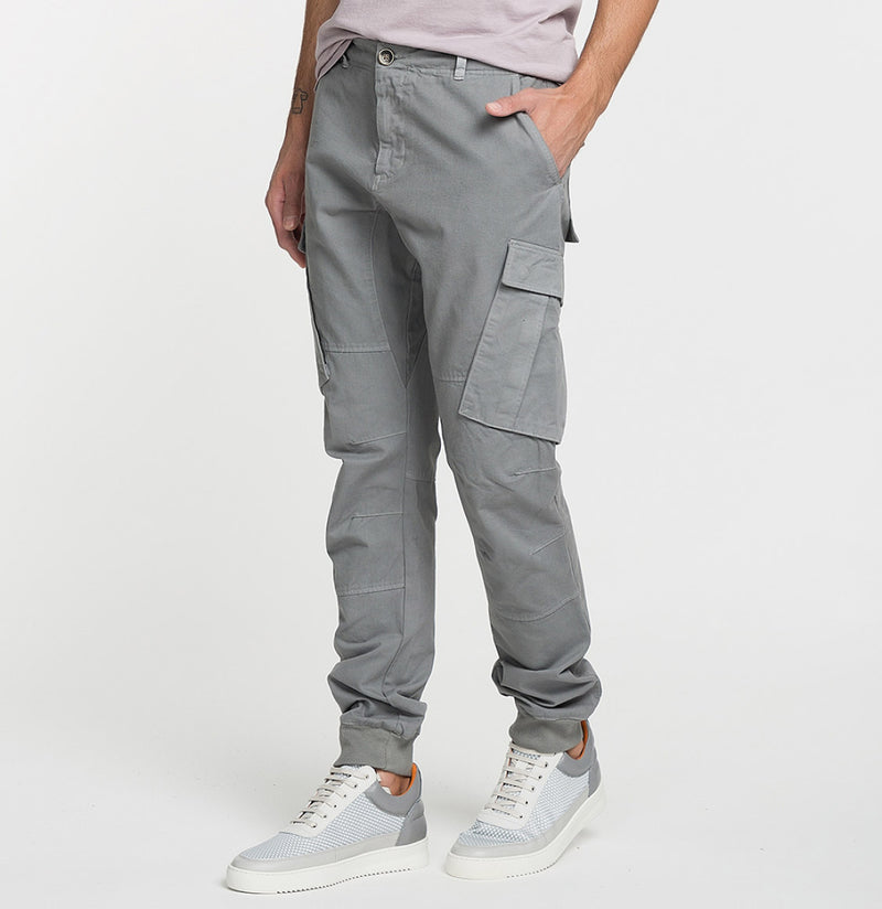 Cargo Cotton Pants Grey Model B