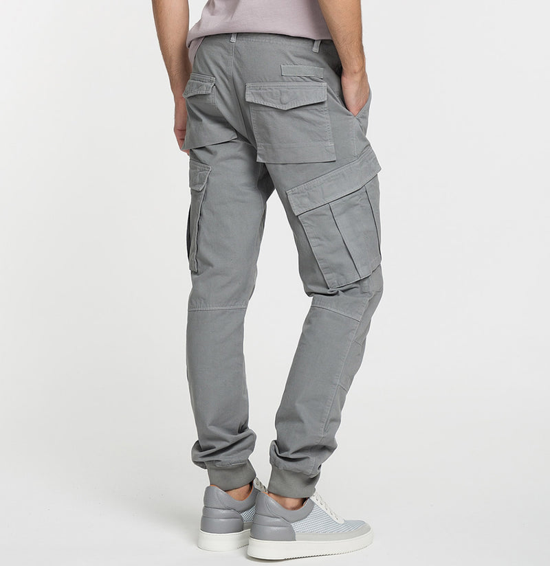 Cargo Cotton Pants Grey Model C