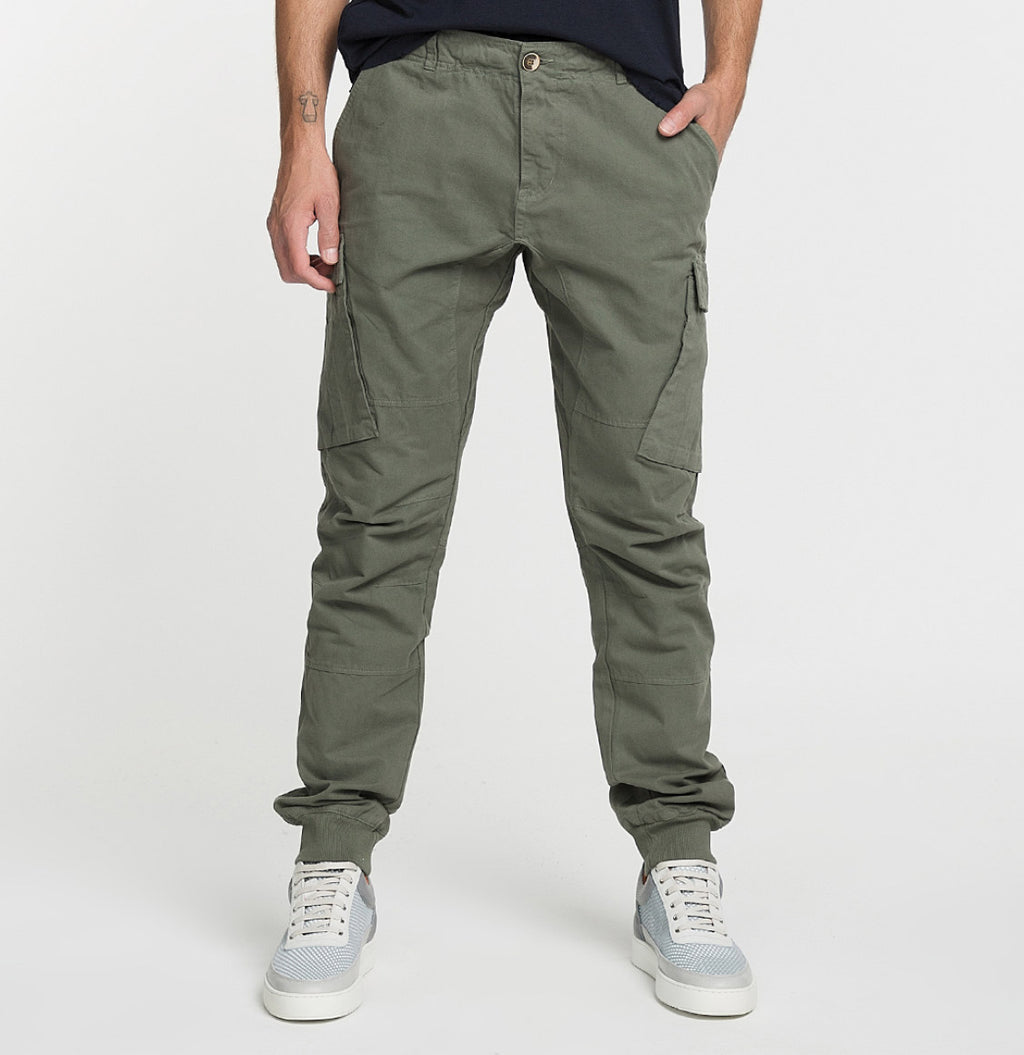 Cargo Cotton Pants Khaki Model A