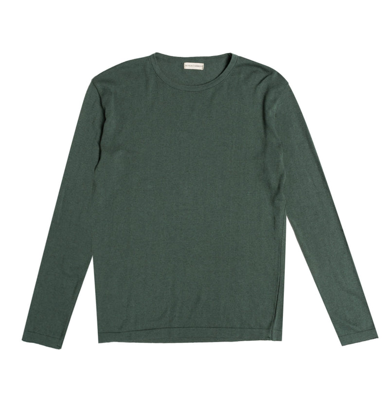 Cashmere Blend Crew Neck Knitted Sweater Forrest Green | The Project Garments
