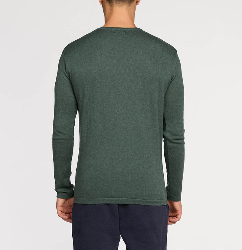 Cashmere Blend Crew Neck Knitted Sweater Forrest Green | The Project Garments - B