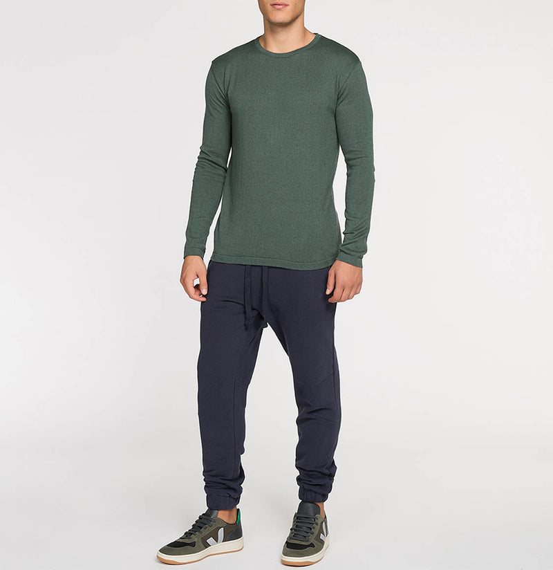 Cashmere Blend Crew Neck Knitted Sweater Forrest Green | The Project Garments - C