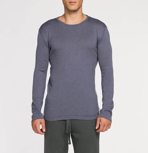 Cashmere Blend Crew Neck Knitted Sweater Grey | The Project Garments - A