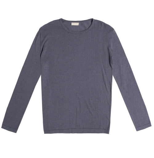 Cashmere Blend Crew Neck Knitted Sweater Grey | The Project Garments