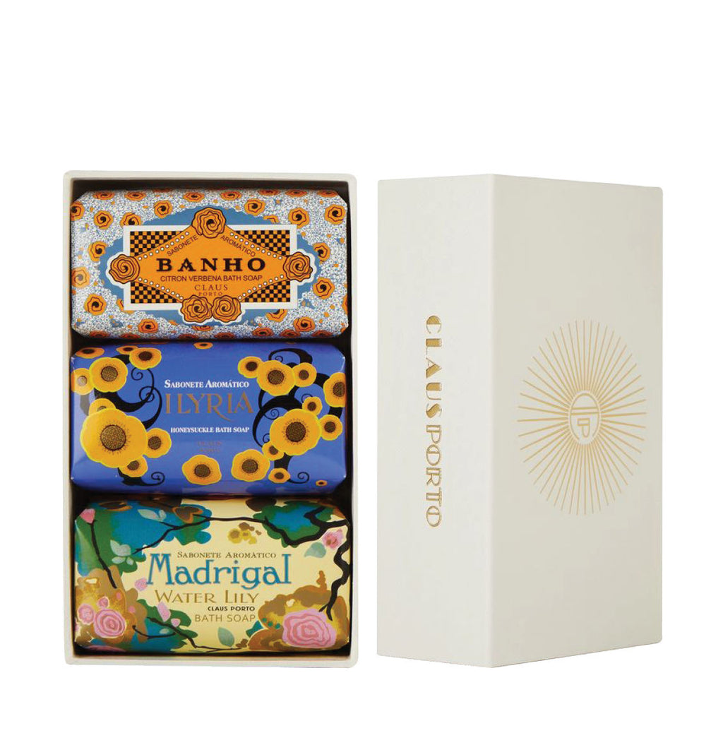 Claus Porto GiftBox Deco Banho, Ilyria and Madrigal Set
