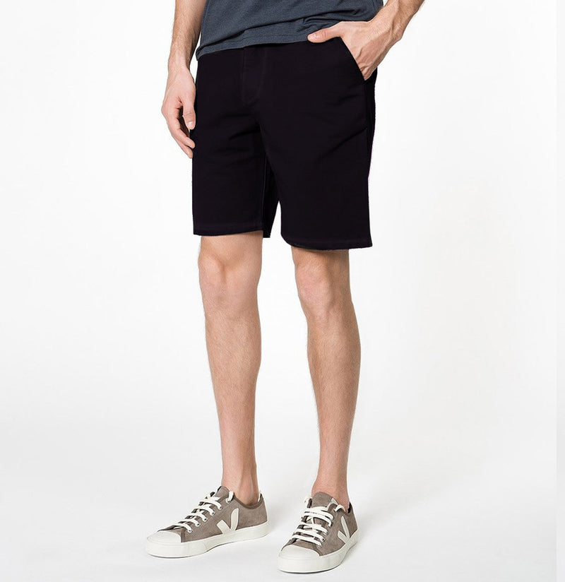 The Project Garments Cotton Blend Distressed Shorts Dark Burgundy Side