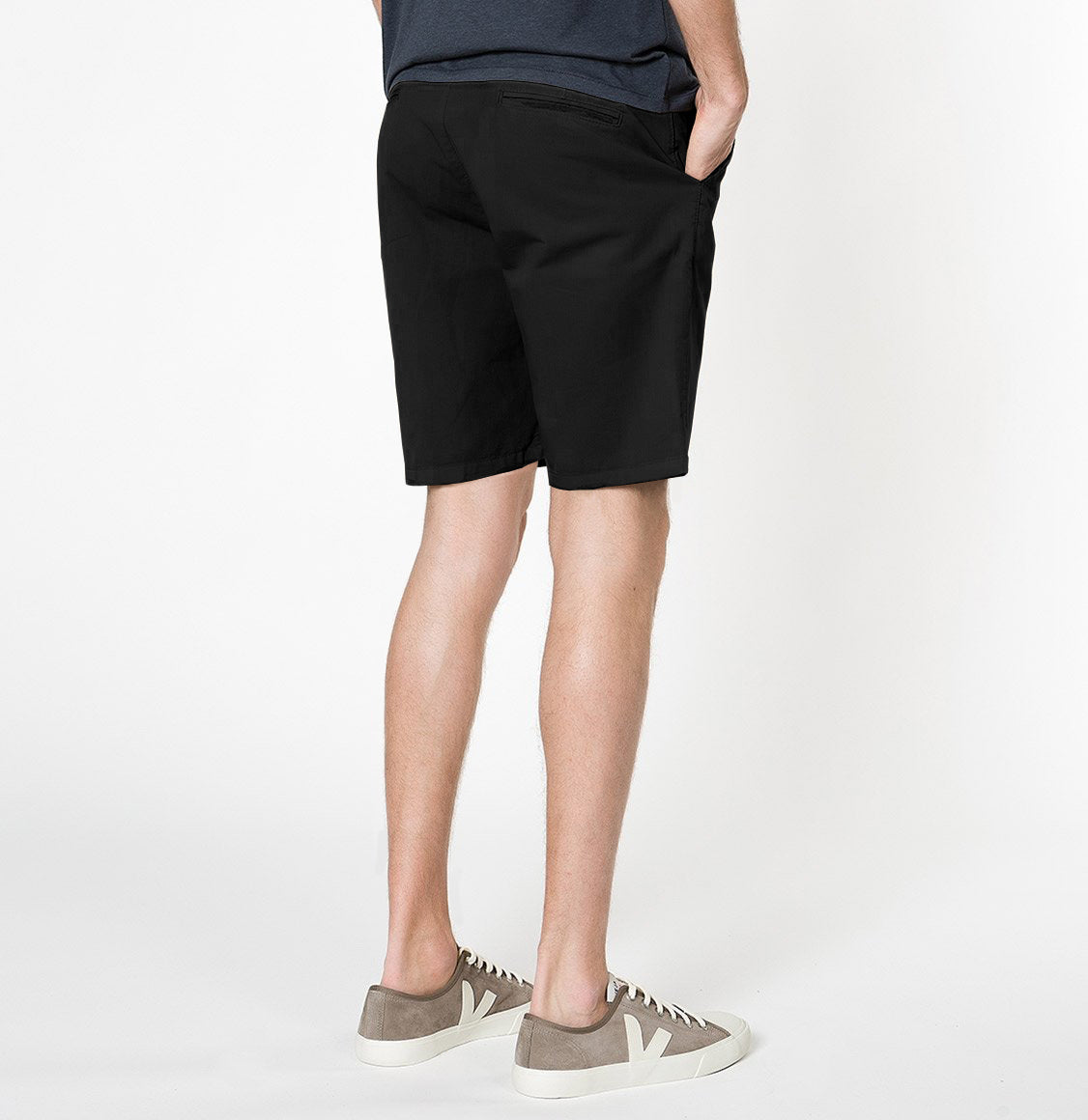 Cotton Blend Distressed Shorts Black | The Project Garments - C