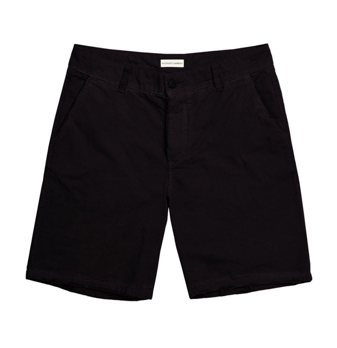 Cotton Blend Distressed Shorts Black | The Project Garments - Product