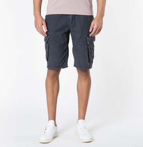 The Project Garments Men's Cotton Cargo Distressed Shorts Charcoal Grey - A