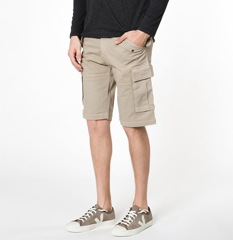 Cotton-Gabardine Cargo Shorts Beige | The Project Garments - B