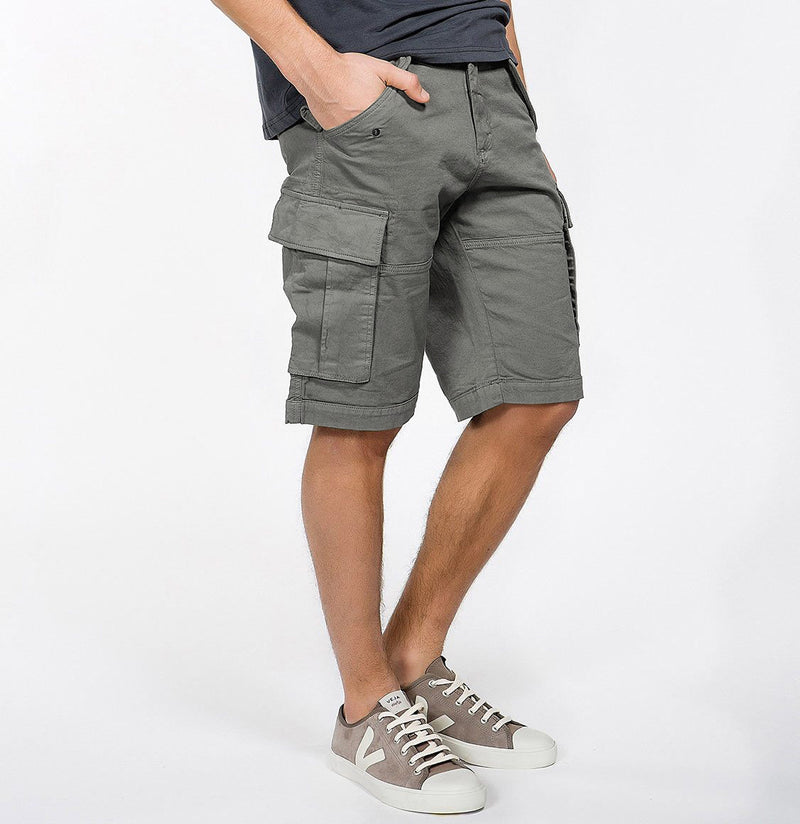Men's Cotton-Gabardine Cargo Shorts Charcoal Grey | The Project Garments - B