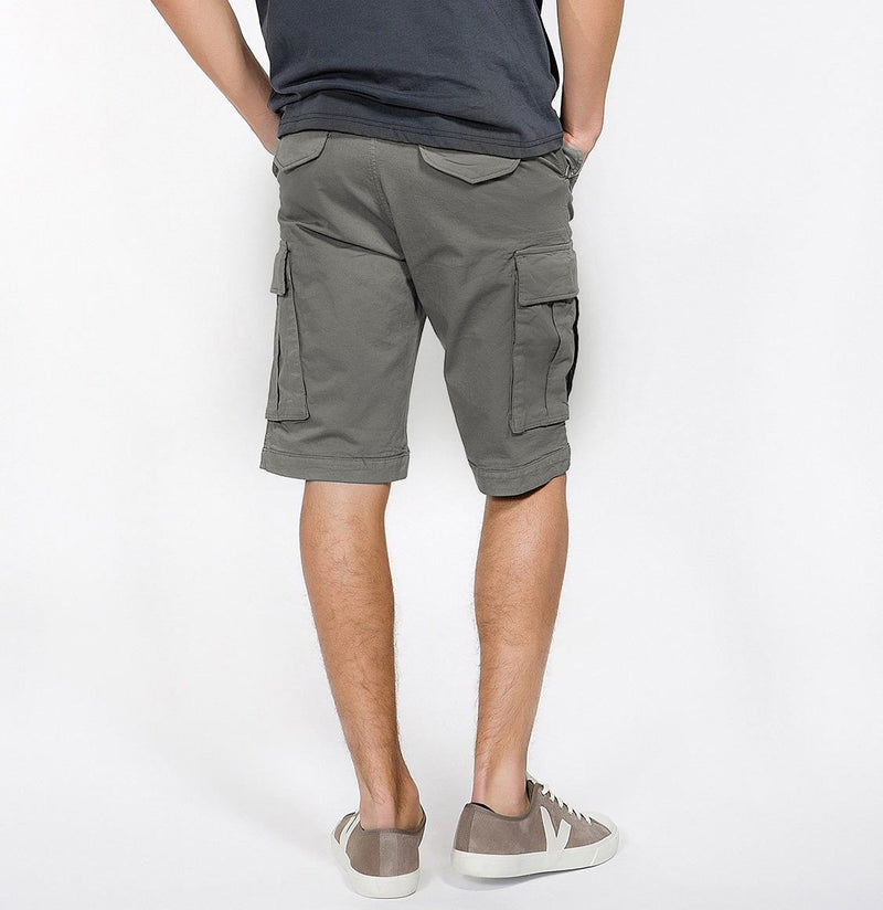 Men's Cotton-Gabardine Cargo Shorts Charcoal Grey | The Project Garments - C