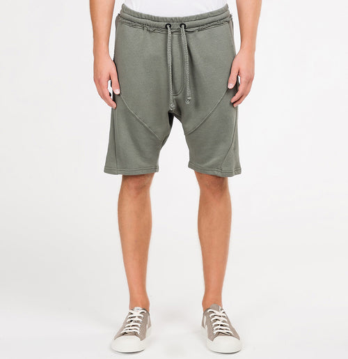 Cotton Linen Blend Sweatshorts Khaki | The Project Garments - A