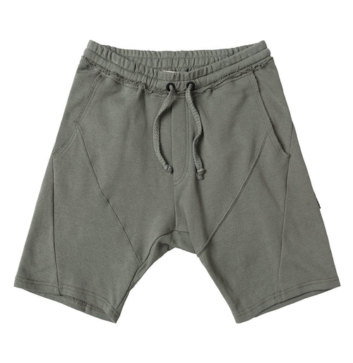 Cotton Linen Blend Sweatshorts Khaki | The Project Garments - Product