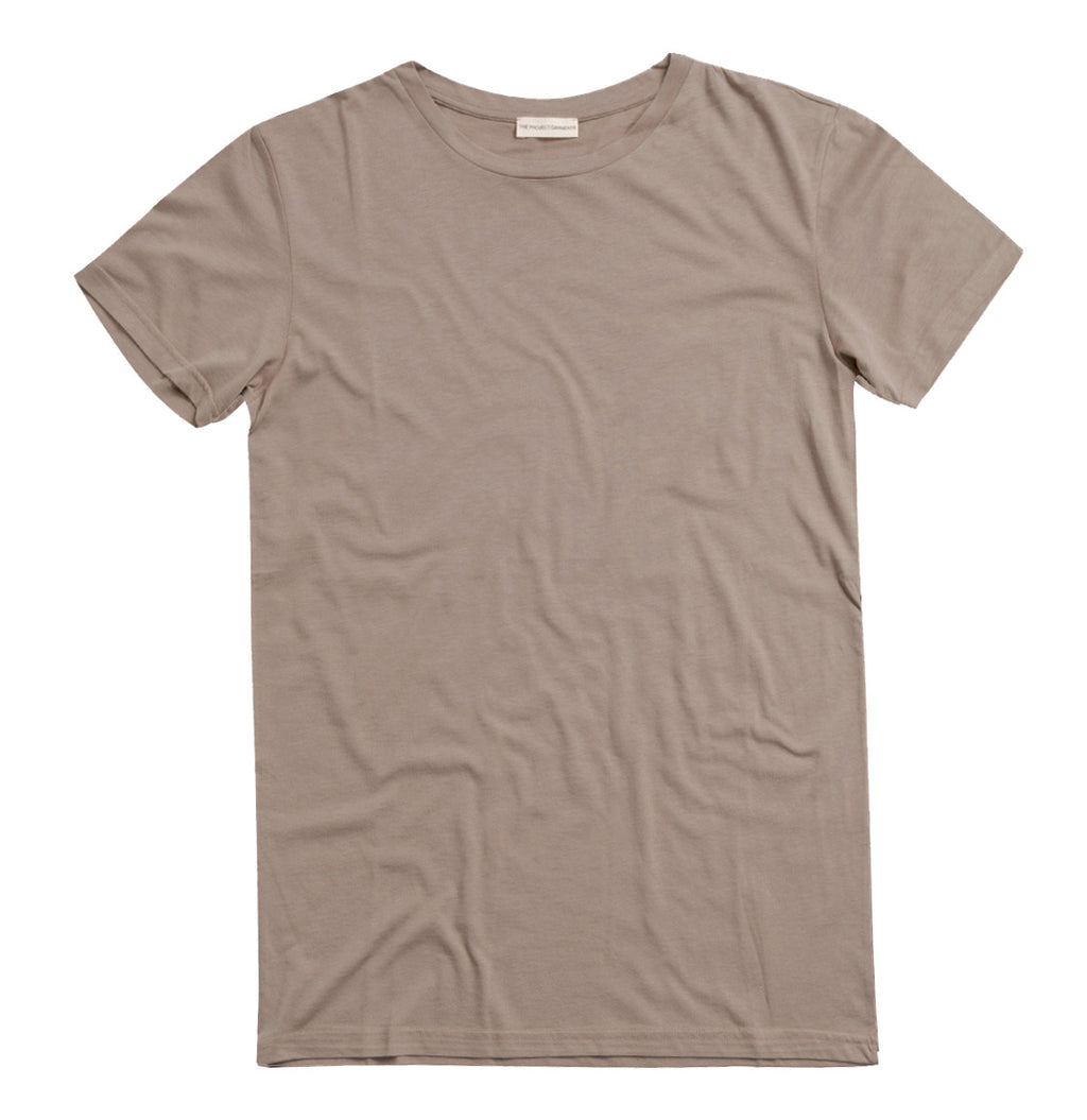 Crew Neck Supima Cotton T-shirt Light Beige | The Project Garments