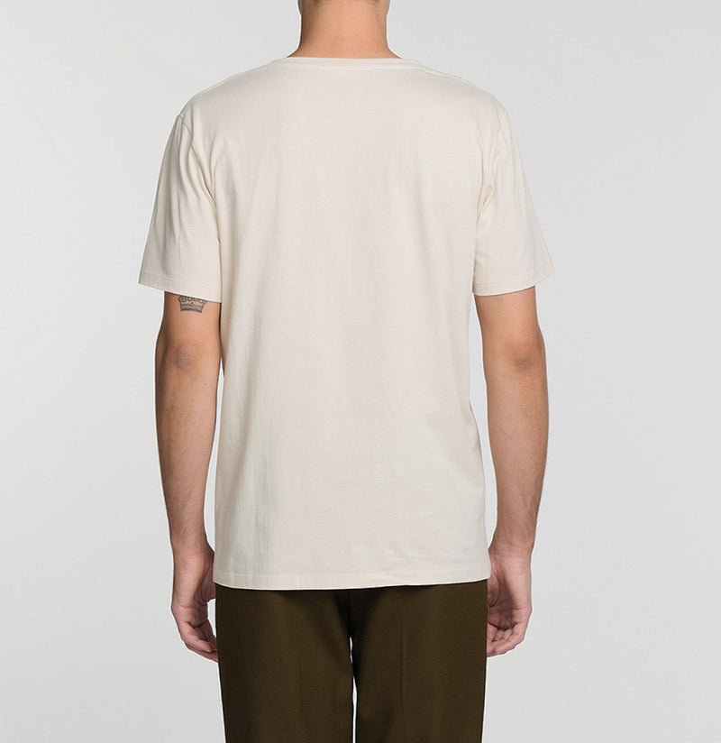 Crew Neck Supima Cotton T-shirt Cream Model C