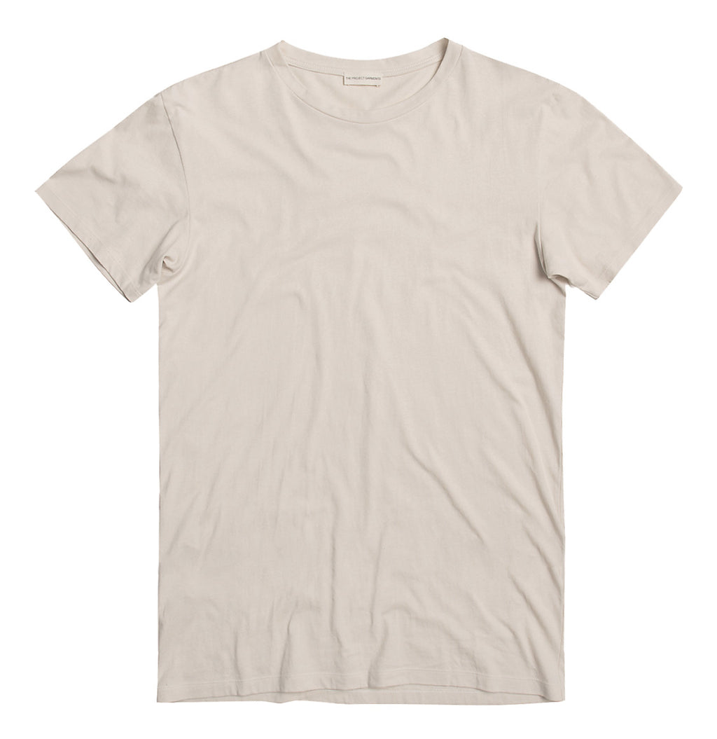 Crew Neck Supima Cotton T-shirt Cream