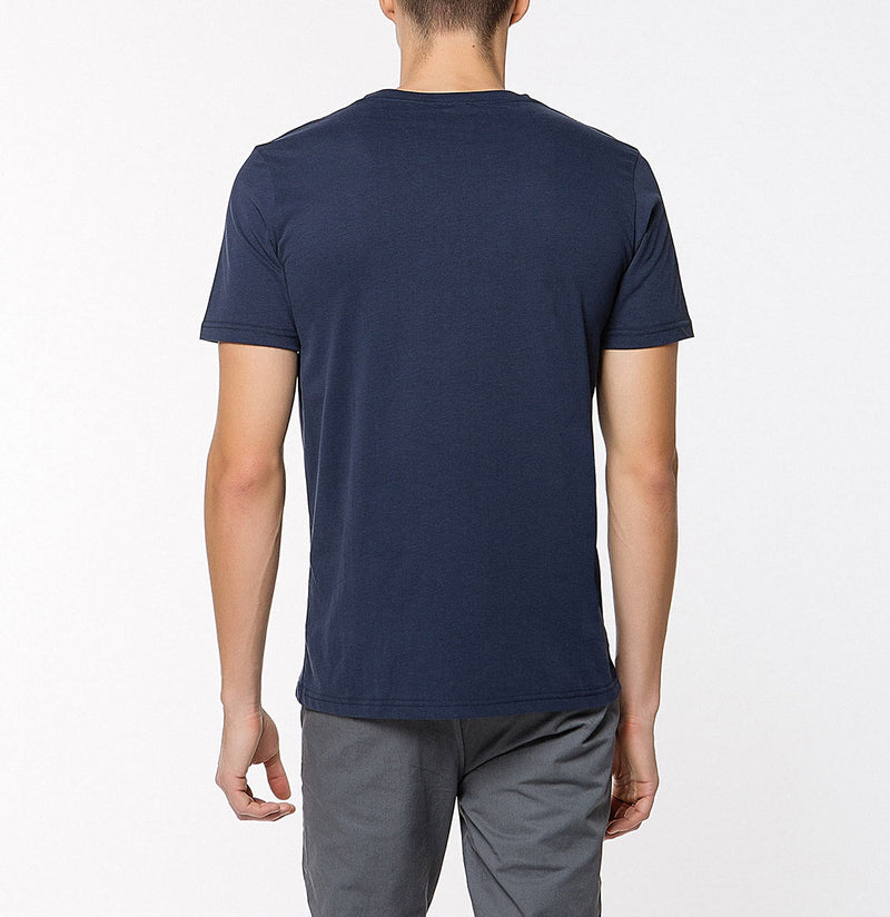 Crew Neck Supima Cotton T-shirt Navy Blue | The Project Garments - Back