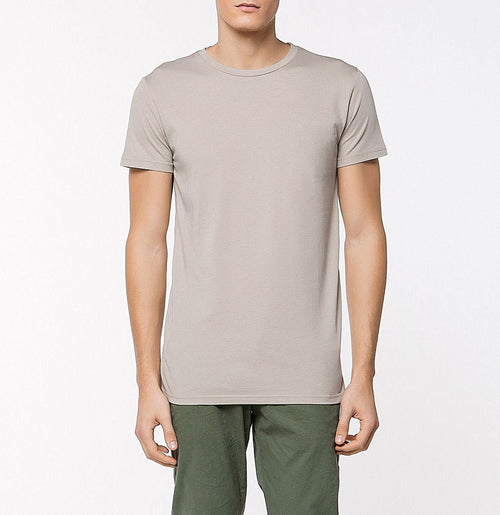 Crew Neck Supima Cotton T-shirt Light Beige | The Project Garments - Front